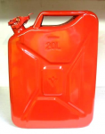 Land Rover Style 20 Litre Red Metal Fuel/Water Jerry Can