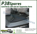 Range Rover P38 MKII Set of Rear Rubber Floor Mats - 95-02