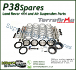 Range Rover P38 Full Set of Medium Height Air to Coil Terrafirma All-Terrain Shock Absorbers & Coil Conversion Spring Kit 94-02