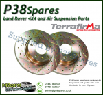 Discovery 3 - 4.4P Terrafirma Crossed Drilled & Grooved Rear Vented Brake Discs (Pair)