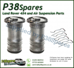 Range Rover P38 MKII Dunlop Rear Air Spings x2 & Clips (Fits Left & Right) 95-02