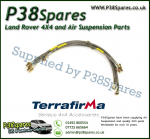 Land Rover Defender 90/110/130 (No ABS) Terrafirma +2 Inch Stainless Steel Braided Brake Hose Kit 99-04