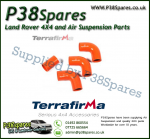 Land Rover Defender 90/110/130 200TDI Terrafirma Orange Silicone Turbo & Intercooler Hose Pipe Kit