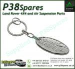 Land Rover Silver Key Ring Embossed With The Union Flag