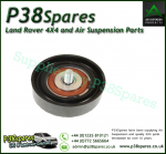 Genunine Range Rover P38 Drive Belt Idler Pulley 80 mm - Timing Tensioner - V8 Petrol 1999-2002 With Air Conditioning