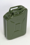 Land Rover Style 20 Litre Green Metal Fuel/Water Jerry Can