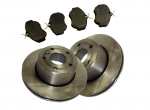 Land Rover Discovery II Front Brake Disc & Mintex Pad Set 98-04