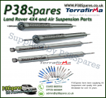 Land Rover Defender 90/110/130 Terrafirma Front & Rear Commercial STD Travel Heavy Duty Shock Absorber (x4)