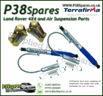 Land Rover 90/110/130 Terrafirma Remote Reservoir +5 Inch Rear Shock Absorber & Fitting Kit (Fits Left & Right) x2