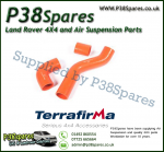Land Rover Defender 90/110/130 300TDI Terrafirma Orange Silicone Turbo & Intercooler Hose Pipe Kit