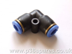 EAS 'Elbow' Section 6mm Replacement Airline Fitting Connector Range Rover P38 MKII & Range Rover Classic 1992-2002